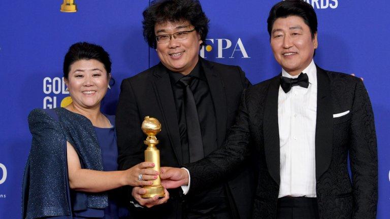 """""""Паразит"""" очаквано грабна приза при чуждоезичните филми, макар феновете на филма да са вероятно разочаровани, че той не взе повече отличия."""