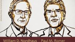 Уилям Нордхаус и Майкъл Пол Ромер предлагат нови решения на глобалните икономически проблеми