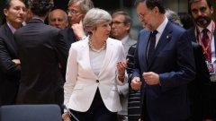Как ще бъдат гарантирани правата на европейците на Острова? Тереза Мей обяви в Брюксел някакъв вариант това да се случи