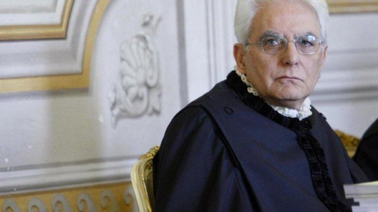 Серджо Матарела - конституционен съдия, бивш правосъден министър и дългогодишен депутат, автор на няколко изборни кодекса - е фаворитът на властта за поста.