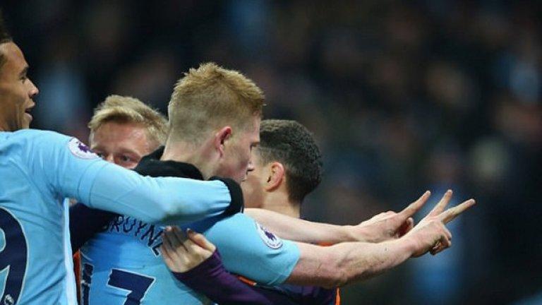 Манчестър Сити посреща Тотнъм в дербито на кръга в Англия