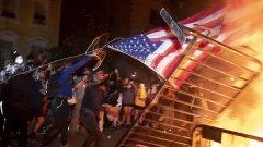 Сблъсъци, насилие и арести в САЩ след демонстрации в подкрепа на Тръмп