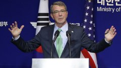 """Американският министър на отбраната Аштън Картър обяви """"корекции"""" на въоръжените сили в Европа, защото НАТО и ЕС помолили за """"помощ"""""""
