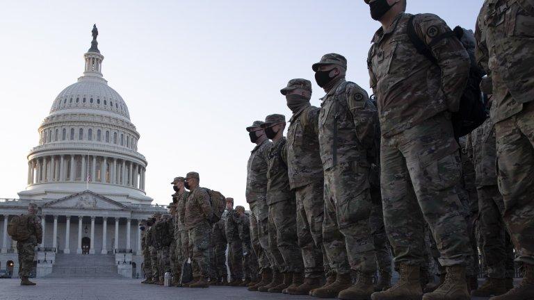 Някои експерти по сигурността, пожелали анонимност, посочват, че няма сведения за допълнително военно присъствие около Капитолия