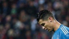 Кристиано Роналдо бе сменен малко преди края и не бе доволен от решението на Маурицио Сари