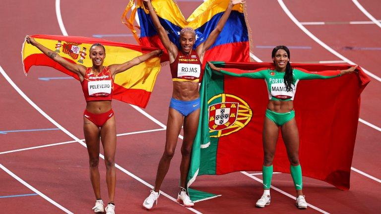 Първият човек, с когото отпразнува рекорда, бе Ану Пелетейро - състезателка на Испания, с която тренират заедно и която спечели бронза. Разбира се, последва и напълно заслуженият тур за овации.