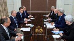 Срещата се проведе в резиденцията на Владимир Путин в Сочи