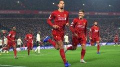 """След гола на Ван Дайк Ливърпул контролираше напълно ситуацията на игрището. Към края обаче Манчестър Юнайтед живна, макар това да не стигна на """"червените дяволи"""""""
