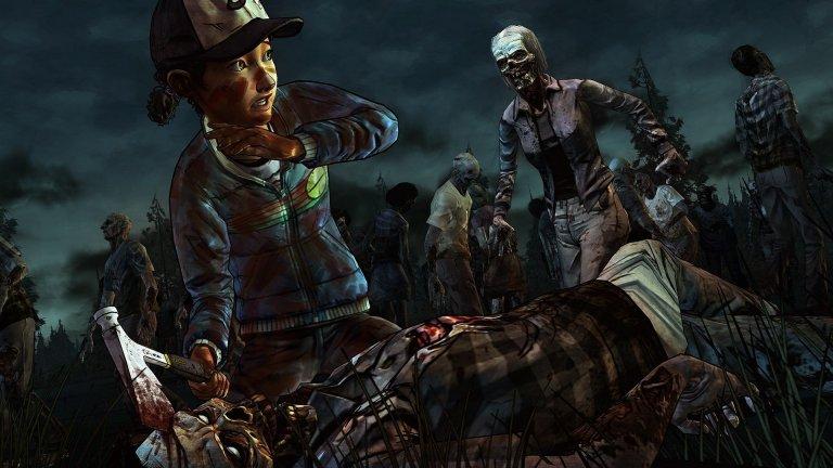 """The Walking Dead  ТВ шоуто, създадено от Франк Дарабонт (""""Зеленият път"""", """"Изкуплението Шоушенк"""", """"Мъглата"""") по едноименния комикс, е пропито с характерна зловеща атмосфера и съспенс, каквито трудно можем да открием у предишните игри на Telltale Games, но студиото се справи блестящо със своята разделена на епизоди интерактивна история The Walking Dead. Геймплеят може да се опише най-точно като съчетание между класическите point&click игри на компанията и някои по-напрегнати екшън сцени.   Онези, за които е важно всяко решение в игрите да има някакво последствие, било то и минимално, ще останат доволни. На няколко пъти в играта ще трябва да направите и по-големи избори, който ще доведат до промени в действието. Заради вас някой от спътниците ви може да загине, друг да ви намрази, трети да ви хареса и т.н. Ефектът е наистина силен и се разгръща в следващите епизоди и сезони на играта."""