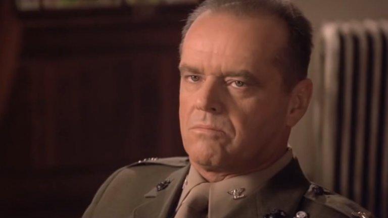"""Джак Никълсън прави велика роля като полковник Нейтън Р. Джесъп в """"Доблестни мъже"""", а речта му """"Ти не можеш да понесеш истината"""" е една от най-добрите в киното изобщо."""