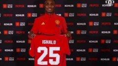 Одион Игало, който ще се превърне в първия нигериец в Юнайтед, ще играе с фланелката с номер 25 на гърба, която беше овакантена след раздялата с Антонио Валенсия.