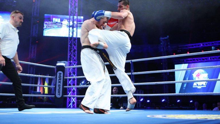 Петър Стойков победи украинеца Владимир Сергеев в мач по правилата на KWU SENSHI в кат. до 68.7 кг