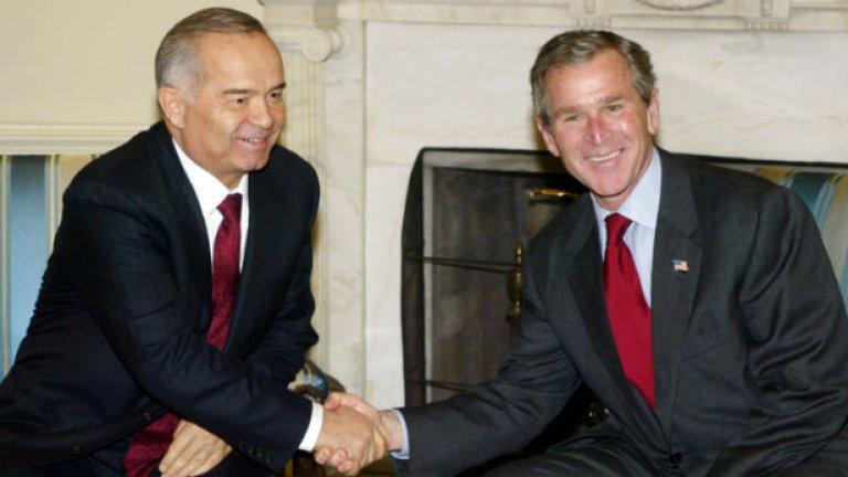 Буш отдавна падна, но ръкуващия се с него Ислам Каримов все още се е вкопчил здраво във властта