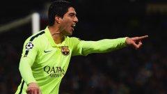 След като вкара два гола през седмицата на Манчестър Сити в мач от Шампионската лига, днес Луис Суарес вкара един гол и изработи попадението на Лео Меси