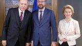 Реджеп Ердоган се срещна с председателите на Европейския съвет и Европейската комисия