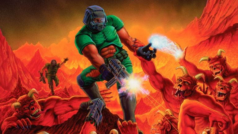 Doom  Добре дошли или добре завърнали се към един от първите научнофантастични хоръри на 90-те. Doom е сред заглавията, които за първи път повдигат въпроса дали компютърните игри не съдържат твърде много насилие, но тогава тези критики са заглушени, а в момента са на още по-заден план. В нея вие сте космически пехотинец, който трябва да се справи с орди кошмарни създания, които космическата база на една от луните на Марс бълва.  А как човек се справя с подобни изчадия? Точно така – убива ги безмилостно. Три епизода от по девет нива всеки са напълно достатъчни, за да си припомните как се прави това в Doom и да се сетите колко разпускащо всъщност е.