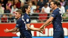 Ибрахимович вкара два гола за ПСЖ и донесе точката на шампионите срещу Реймс