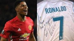 Роналдо продължава да изпраща подаръци на Рашфорд
