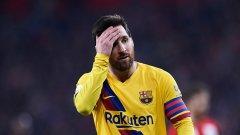 Меси трябва да преглътне още едно сериозно разочарование с Барса този сезон