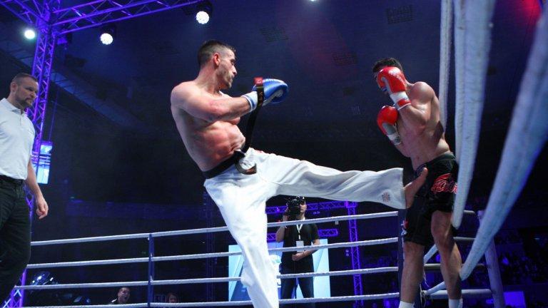 Николай Йоргов се справи с класния иранец Маджид Хашеми Бейджи, също в мач по правилата на KWU SENSHI, но в категория до 80 кг
