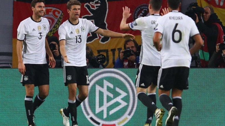Германия еднолично оглавява С, записвайки втора поредна победа с 3:0. На второ място излезе Азербайджан, след като надви по рано Норвегия с минималното 1:0.