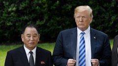 Обратът идва след разговор на президента на САЩ с бивш шеф на севернокорейското разузнаване