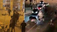 Фенове на Челси и Манчестър Сити се биха помежду си, а после и с полицията