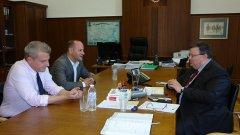 Лидерите на ДСБ обсъдиха съдебната реформа с Цацаров