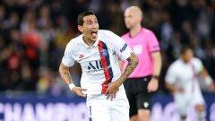 Героят на мача Ди Мария вкара двата си гола още през първата част