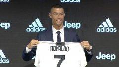 """""""Различен съм от всички останали играчи на моята възраст, които смятат, че кариерата им свършва"""", каза Роналдо на първата си пресконференция като играч на Ювентус"""
