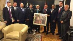 Делегация от ръководството на ДПС, водена от съпредседателите Рушен Риза и Четин Казак се е срещнала с председателя на най-голямата опозиционна партия в Турция - Републиканската народна партия (CHP)- Кемал Кълъчдароглу.