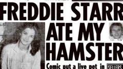 """Корицата на в. Sun, на която пише """"Фреди ми изяде хамстера"""""""