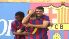 Невиждани кадри на Мауро Икарди с фланелката на Барселона (видео)