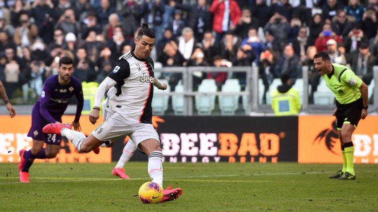 С два точни удара от бялата точка Роналдо добави нови голове към сметката си този сезон