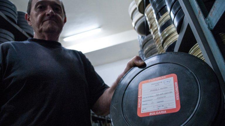 """""""Най-много държа да се запазят българските филми"""", казва ръководителят на базата Асен Янков"""