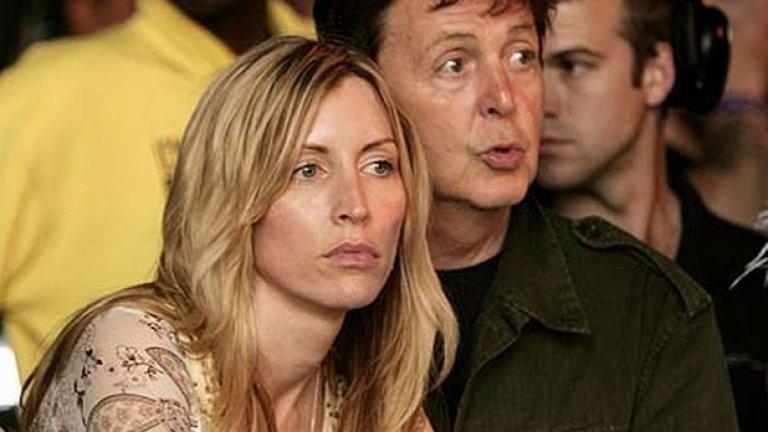 """Хедър Милс и Пол Маккартни През 2008-ма година Хедър Милс """"удари джакпота"""" с развода си с Пол Маккартни, като прибра 48.6 млн. долара."""