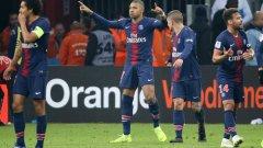 Мбапе влезе като резерва и откри резултата за парижани, а после Дракслер оформи крайното 2:0.