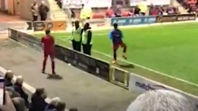Най-смешната загрявка в историята на футбола (ВИДЕО)