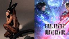 """Ариана Гранде - Final Fantasy Brave Exvius  Поредицата Final Fantasy не е известна с появата на знаменитости, но безплатното мобилно заглавие от 2017 г. Brave Exvius променя тази тенденция по възможно най-странния начин. Там поп звездата Ариана Гранде се появява не само като герой, но и като такъв, с който можете да играете.  Намирането на Грандe в играта всъщност е много лесно: стигнете до Dimensions Vortex, изберете събитието Dangerous Woman Tour, победете няколко лесни врагове и Dangerous Ariana, описана в играта като """"красива певица от далечен свят"""", става достъпна за добавяне към вашия отбор. Тя носи маската на зайче от музикалния видеоклип Dangerous Woman. Оставяйки музикалната й репутация настрана, тя всъщност е доста мощен персонаж и нейната специална атака (естествено озаглавена Touch it) може да свали дори най-силните врагове."""