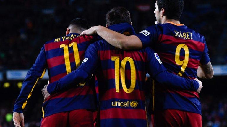 Триото МСН отбеляза изумителните 107 гола във всички състезания през сезона досега.