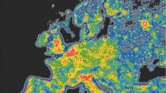 Черните зони имат най-чисто небе, след тях са сините и зелените, а най-светлинно замърсените са жълтите