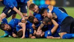 Това не е Италия, която отговаря на клишето за защитен футбол и пресметливи победи. При Манчини отборът вкарва по 2.5 гола средно на мач