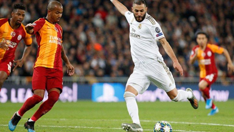 Бензема вкара два от головете за Реал при 6:0 над Галатасарай. Разписвал се е вече в 15 поредни сезона в Шампионската лига.