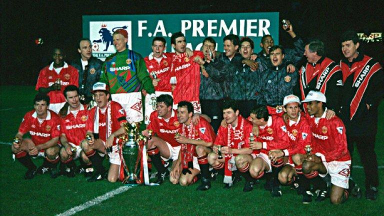 През 1993 г. играчите на Юнайтед вдигнаха титлата на Англия след 26-годишно прекъсване. Вижте в галерията кои бяха героите на сър Алекс тогава.