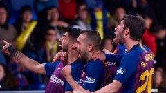 Играчите на Барселона обезумяха след изравнителния гол, който им донесе точка в наглед загубен мач