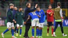 Манчини след края на серията на Италия: Добро представяне