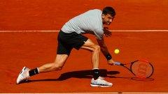На полуфиналите Григор ще играе с Рафаел Надал или Доминик Тийм.