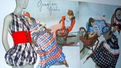 """Клеър Маккардел първа употребява деним, прави джобове, лансира стила """"dirndl"""" (жени в тиролски костюми), късите шорти, дрехите със """"задно"""" деколте, пончото..."""