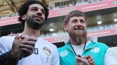 Мохамед Салах и лидера на Чечня Рамзан Кадиров