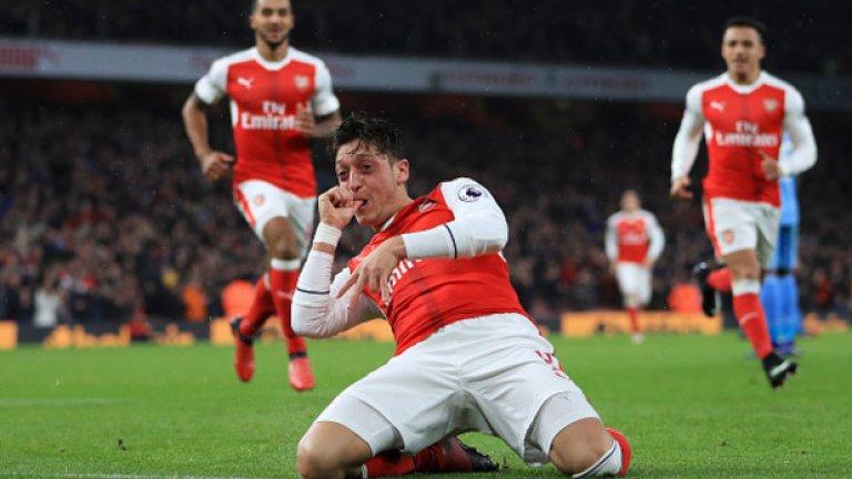 """Стоук – Арсенал, събота 19:30 часа Арсенал изглежда пределно фокусиран и в много добър ритъм, който се очаква да запази до края на сезона. След загубата от Тотнъм, """"артилеристите"""" победиха последователно Манчестър Юнайтед и Саутхемптън с по 2:0, а сега гледат към третата си поредна победа – като гост на посредствения през този сезон Стоук. """"Грънчарите"""" са само с една победа в последните девет кръга, като в пет от тях дори не успяха да се разпишат.  Сигурна прогноза: 2 – 1,75 Рисков залог: 2 и гол/гол – 3,10"""